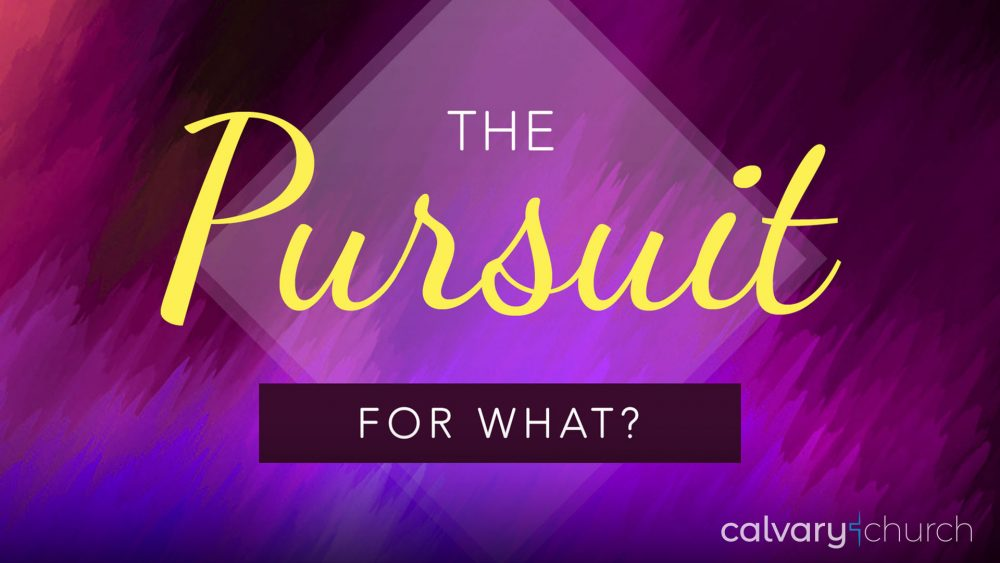 The Pursuit: For What? Image