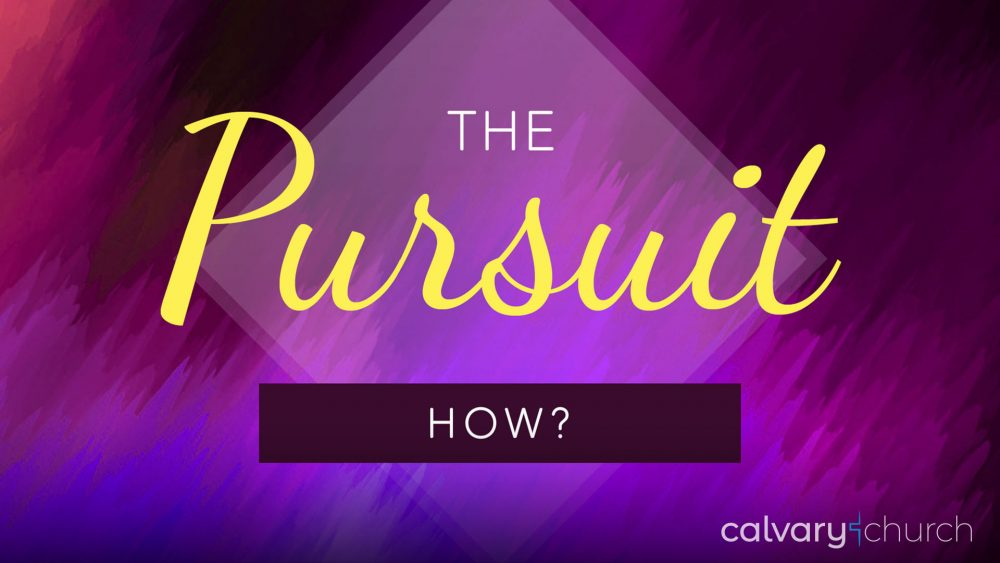 The Pursuit: How? Image