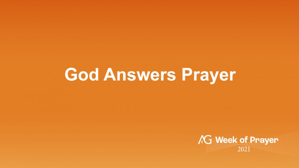 God Answers Prayer! Image